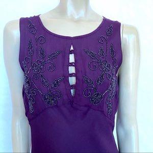 Nostalgia Vintage Beaded purple dress